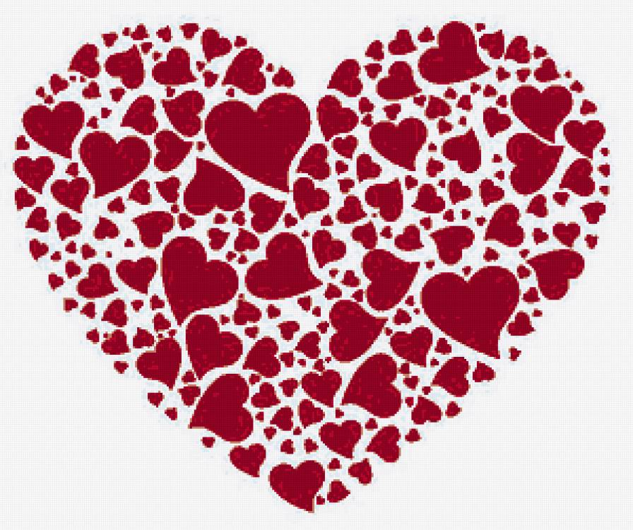 Вышивка сердце